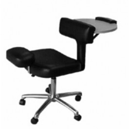 COLLINS 2505 Pedicure CHABLE, patented, task chair, portable nail table, and portable pedicure stool