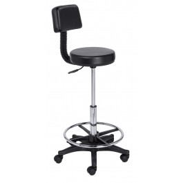 SAVVY 033-B HAIR CUTTING STOOL W/BACK