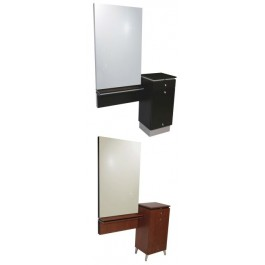 COLLINS, 405-48 QSE STYLING STATION, WITH MIRROR, AND FRAME