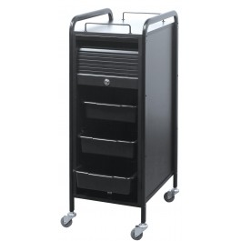 SAVVY SAV-505-B PERSONAL ASSISTANT Roller Cart ALL BLACK