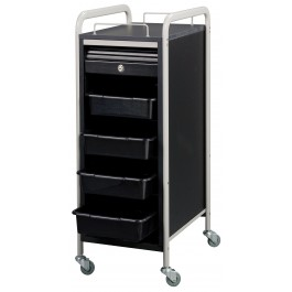 SAVVY SAV-505-GB PERSONAL ASSISTANT Roller Cart GREY WITH BLACK