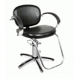 Collins 1300S VALENTI QSE Hydraulic Styling Chair USA. w/ Slim Star 5 YEAR