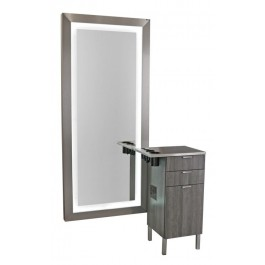 Collins 6642-21 Zada Stainless Styling Vanity/ Framed Mirror w/ LED Lights