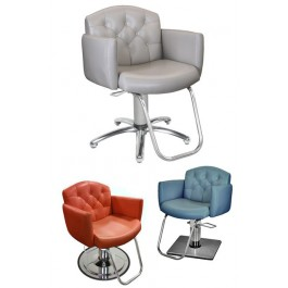 Collins 7100 Ashton Hydraulic Styling Chair w/ Round Chrome Base