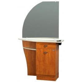 KAEMARK USA.LC-207 BEAUTY STATION, MIRROR, DRAWER, CABINET, PURSE SHELF