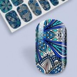 B. Youthful Nail Wraps - Peafowl