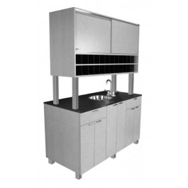 COLLINS 946-60 AMATI COLOR ISLAND OPEN BOTH SIDES, SINK, TOWEL STORAGE