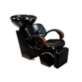 YCC H-2008BK Deluxe Backwash System With Tilting Bowl And Leg Rest