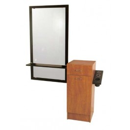 Jeffco J07-05 JAVA Styling Station With Mirror And Ledge