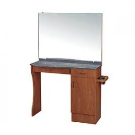 KAEMARK USA LC-205 STYLING STATION, CABINET STORAGE, DRAWER, SIDE APPLIANCE, MIRROR INCLUDED