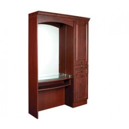 KAEMARK USA.-ML-05 STYLING STATION HAS IT ALL STORAGE/MIRROR/CANOPY LIGHTS MIRROR,APPLIANCE,STORAGE