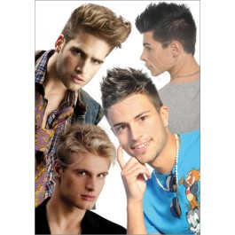 Worcester Reading Co. Men's Large Hair Poster #6136