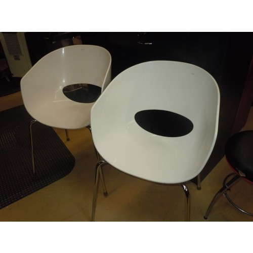 sc 1 st  Wholesale Salon Equipment & Used Reception Chairs White Plastic Pick Up Only