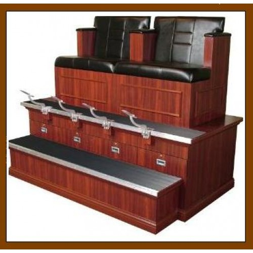 Collins 9040bx2 Double Bradford Styled Shoe Shine Stand