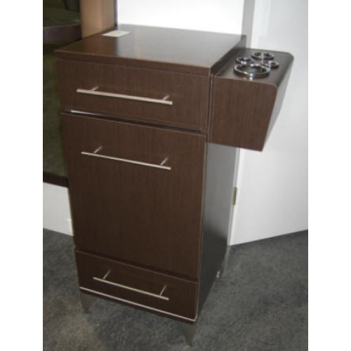 PIBBS 5027 STYLING STATION WITH SIDE MOUNT TOOL PANNEL TWO DRAWERS CABINET