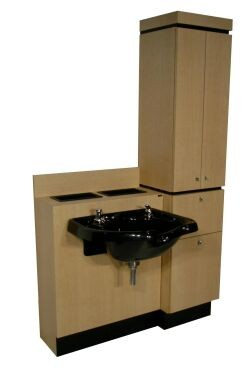 COLLINS 427-48 QSE Shampoo Bowl Cabinet, Bulk Head with Shampoo Tower Assistant