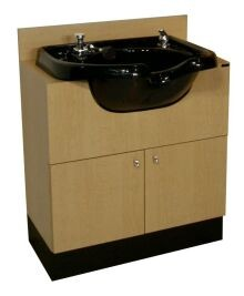 COLLINS 428-30 QSE CONCEPT  SHAMPOO BOWL CABINET, WITH SHAMPOO BOWL AND FIXTURE