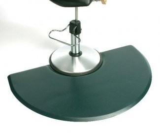 "Unique 4'X 4.5' - 5/8"" Wide Half Round Stylist Mat WITHOUT Chair Depression"