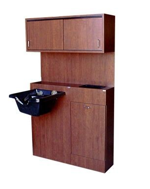 SHAMPOO CABINET  508+509+510 QSE USA. BACK BAR CABINET TOWEL CABINET SLIDE DOORS