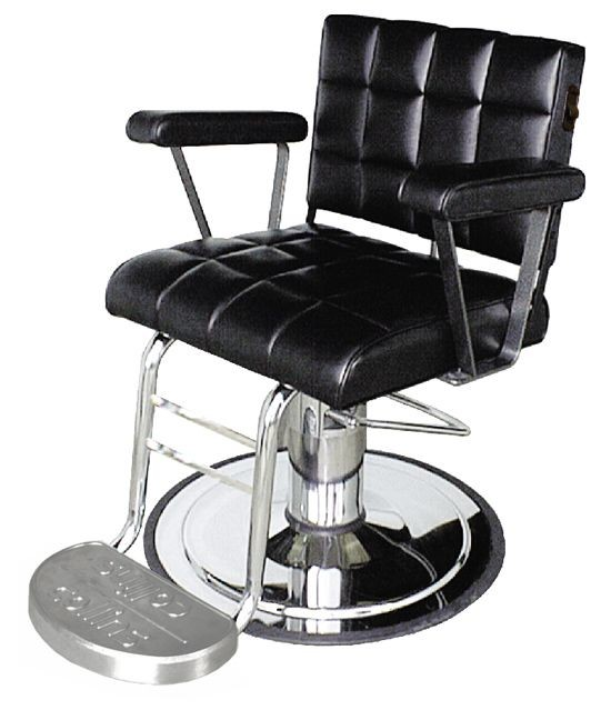 COLLINS 7900 HACKNEY Heavy-Duty Unisex Hydraulic Styling Chair w/ tubular steel footrest