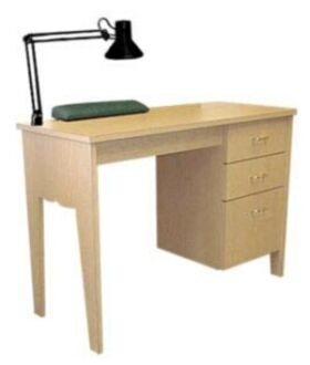 COLLINS 884-42-1 BRADFORD Manicure Table with three drawers.