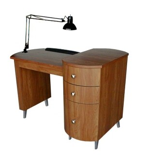 COLLINS 905-48-1 CAMBRIDGE Manicure Table/w Three Drawers