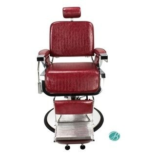 AYC- Lincoln Barber Chair-Crimson-Front