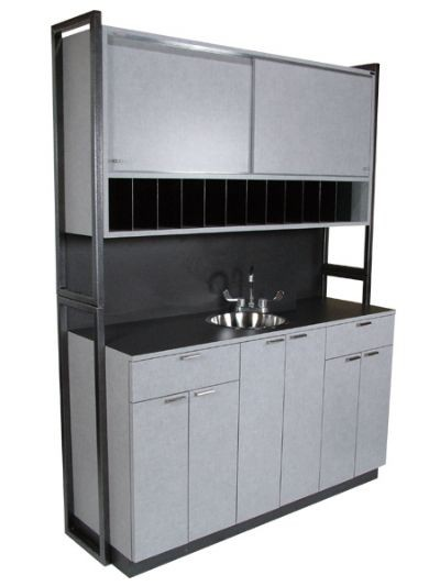 COLLINS 972-60 ENOVA Colorist Center Despensery Store Room Sink, Storage 60""