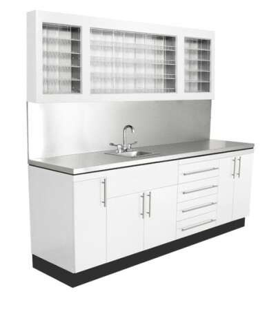 COLLINS 851-101 STAINLESS COUNTER TOP, SINK, COLOR DISPLAY, LOWER STORAGE 101""