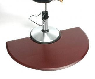 "Unique 3'X4.5' - 5/8"" Wide Half Round Stylist Mat With Chair Depression"