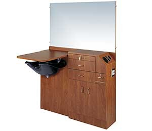 "KAEMARK, SC-648 STYLING WET SHAMPOO STATION, SALON CHOICE 39"" HIGH"