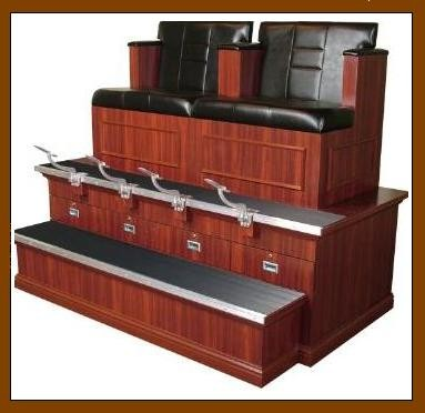 COLLINS 9040BX2 BRADFORD-STYLED SHOE SHINE STAND