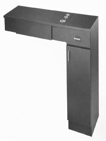 BEAUTY SALON STYLING STATION PIBBS PB20 DRAWERS TOP APPLIANCE WITH CABINET