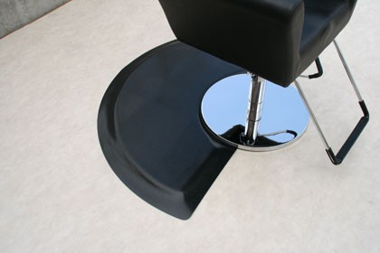 """RHINO HIDE BEAUTY SALON BEAUTY MAT 3' X 5' Semi-Circle-3660S and RFLX-3660SDS 9/16"""" or 1"""" Thickness 9/16"""""""