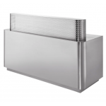 Savvy stainless Braxton Reception Desk sav-rd-bra-010