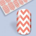 B. Youthful Nail Wraps - Coral Chevron