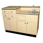 COLLINS 927-54 BI-LEVEL Private Room Vanity W/ Lockers
