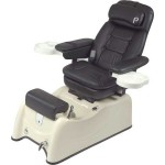 PIBBS  PS 77 Venice Podotherapy Spa w/Massage and Recline - Almond Granite Base